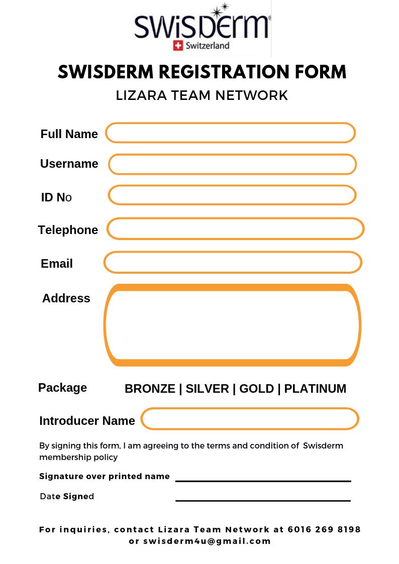 Swisderm Registration Form